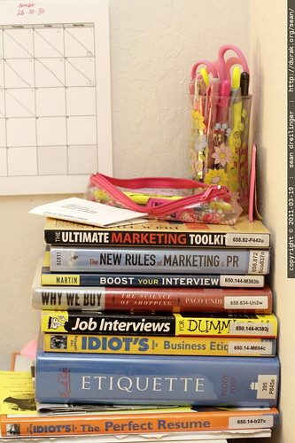 if you graduate college in a recession, your bookshelf might resemble this: