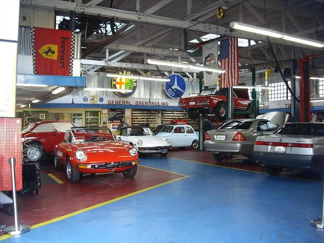 Vintage Car Garage Workshop