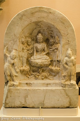 Marble Buddha Votive Tablet