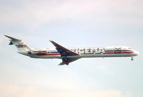 19da - Aero Lloyd MD-83; D-ALLE@FRA;02.04.1998