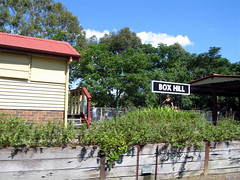 Box Hill station on the miniature railway