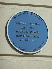 Photo of Josephine Butler blue plaque