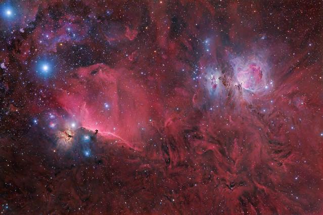 Constelação de Orion, 61 horas de exposição
