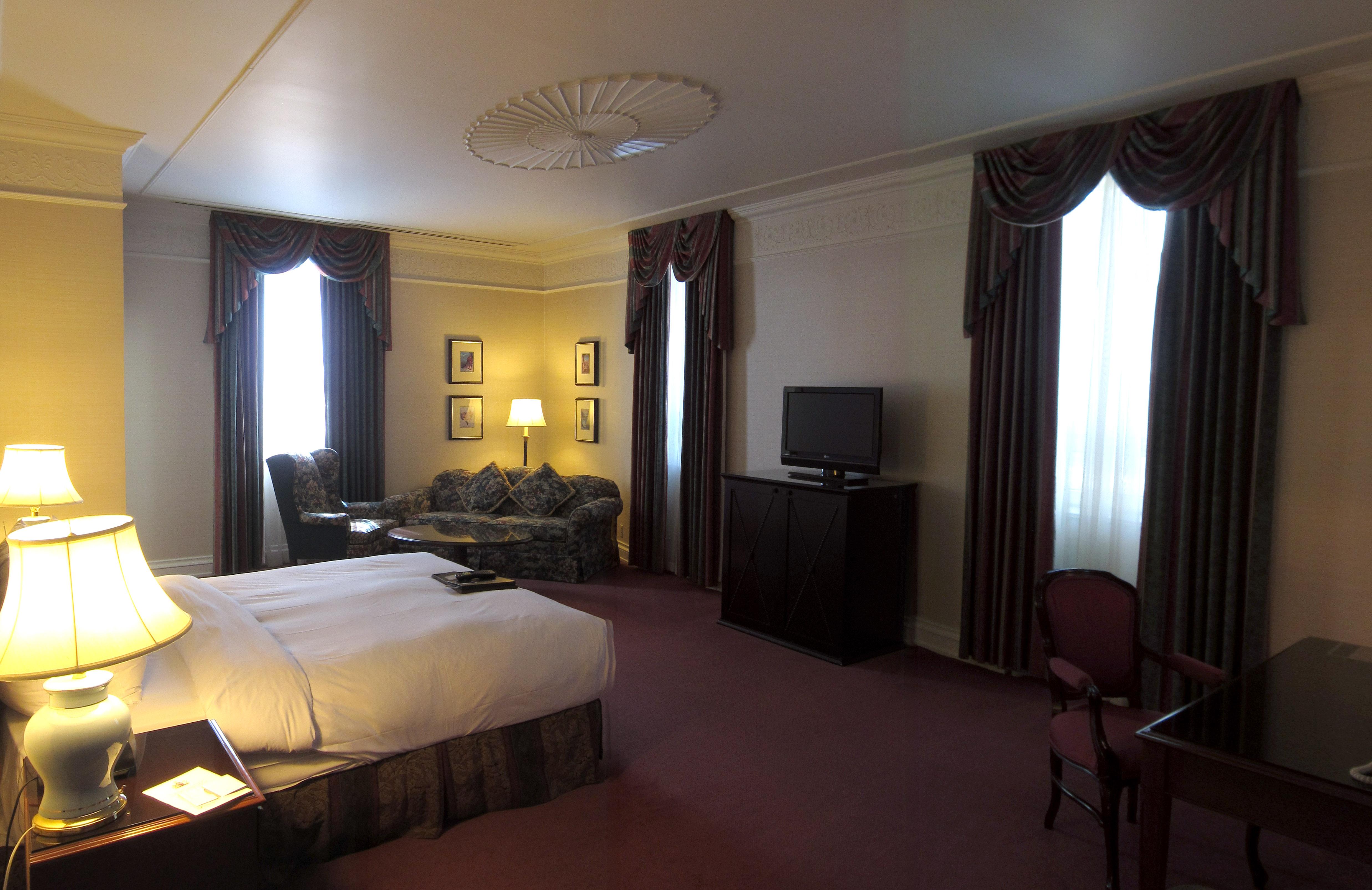 Fairmont Banff Room Service Menu