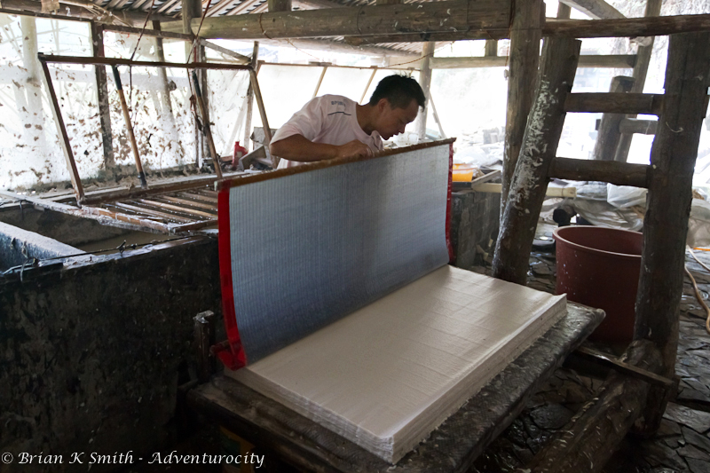 Paper Making in Shiqiao by Adventurocity