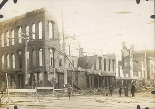 South on Jefferson Street, Dayton, OH - 1913 Flood