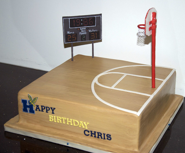 Basketball Court Cake Images : photo