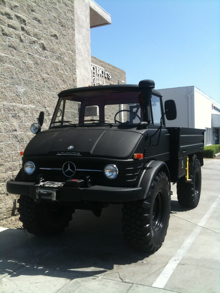 Badazzzzness mercedes benz unimog matte black for sale for Mercedes benz unimog for sale usa