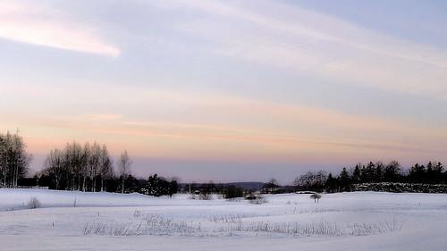 winter sunset snow field finland landscape snowy pastel winterlandscape wintry atsunset