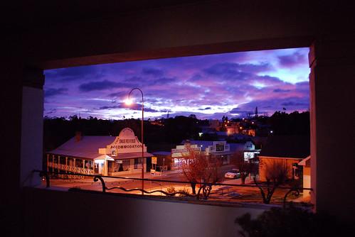 sky clouds sunrise dawn hotel australia victoria gippsland omeo goldenagehotel phunnyfotos