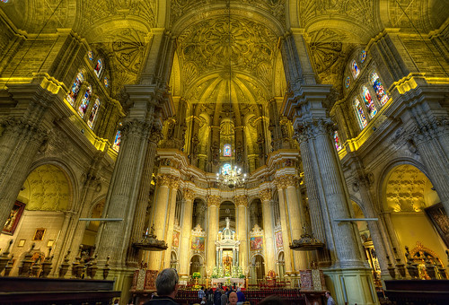 Interior Cathedral – Catedral de Málaga (Spain), HDR