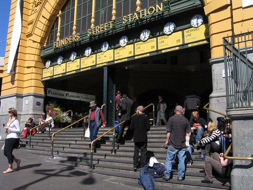 Steps of Flinders Street Station