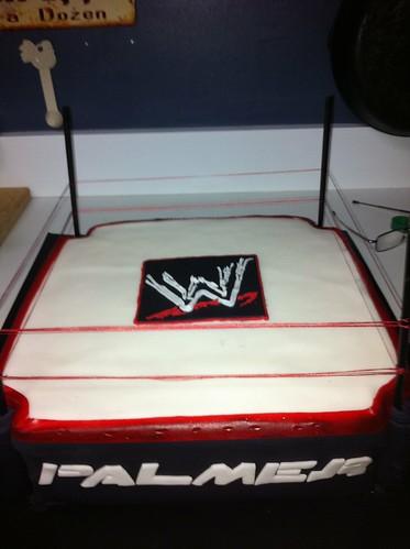 birthday cake wrestling wwf fondant