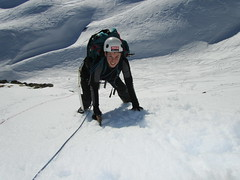 mountain range(0.0), ski touring(0.0), summit(0.0), telemark skiing(0.0), nordic skiing(0.0), snowshoe(1.0), adventure(1.0), footwear(1.0), mountain(1.0), winter(1.0), sports(1.0), recreation(1.0), snow(1.0), outdoor recreation(1.0), mountaineering(1.0), ridge(1.0), extreme sport(1.0),
