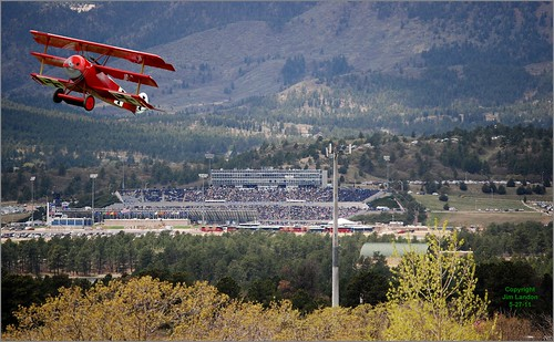 plane airplane colorado stadium aviation graduation fake denver aeroplane replica coloradosprings academy usaf dri flyover headgames manipulatedphoto fokker dr1 unitedstatesairforce triplane aeronautical trickphoto allxpressus bigcementroad