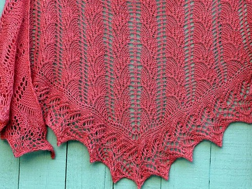 New Flambe Triangle shawl in Tilli Tomas