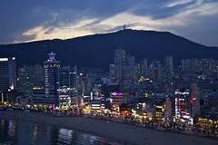 Neon night of Gwangalli Beach