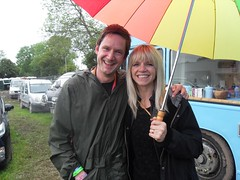Worthy FM's Guy with the lovely Zoe Ball