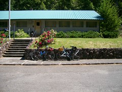 Two bicycles in front of the building where the Ripplebrook store used to be