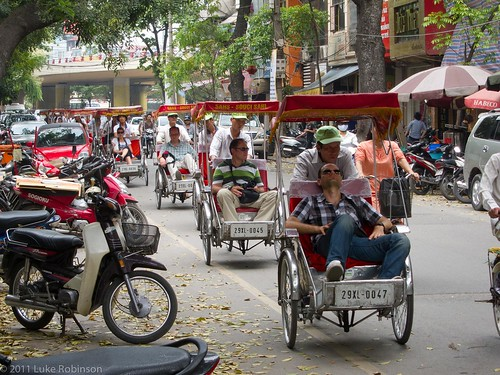 Tourist Cyclo Hell, Old Quarter, Hanoi