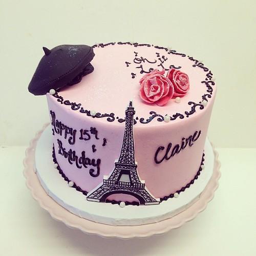 Oh la la birthday cake #polkadotscupcakefactory