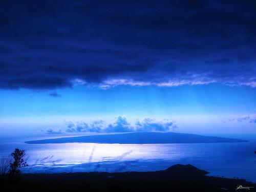 ocean sky sun water rain clouds reflections dark paul island hawaii waves view bright south horizon maui calm clear hana shore rays far dex northpacific dexxus 20110129ha3maui2236