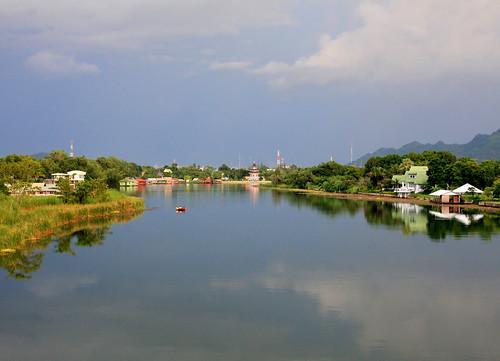 reflections thailand view kanchanaburi riverkwai earthasia totallythailand