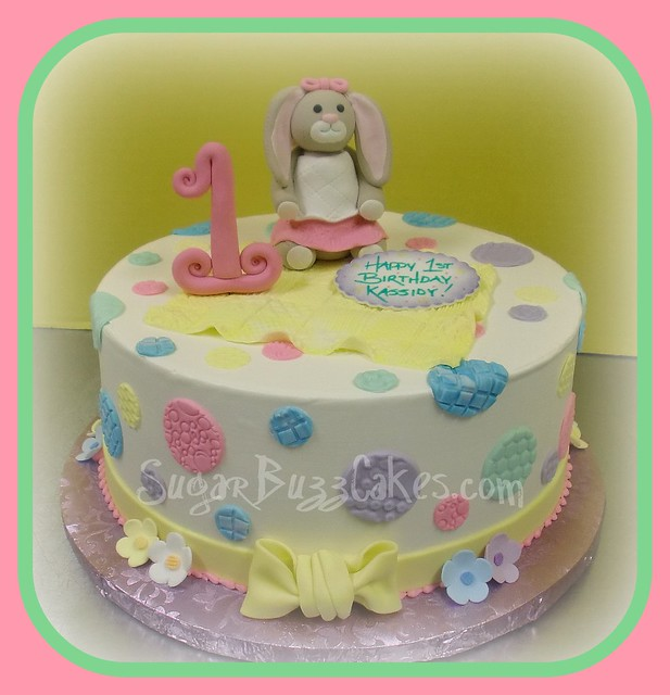 Easter Bunny 1st Birthday cake  Flickr - Photo Sharing!