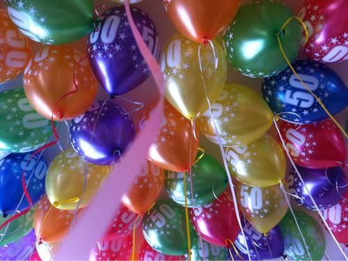 Heliumballonnen 50e verjaardag Rotterdam