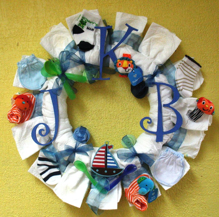 Baby Shower Wreath Instructions: Back To Photostream