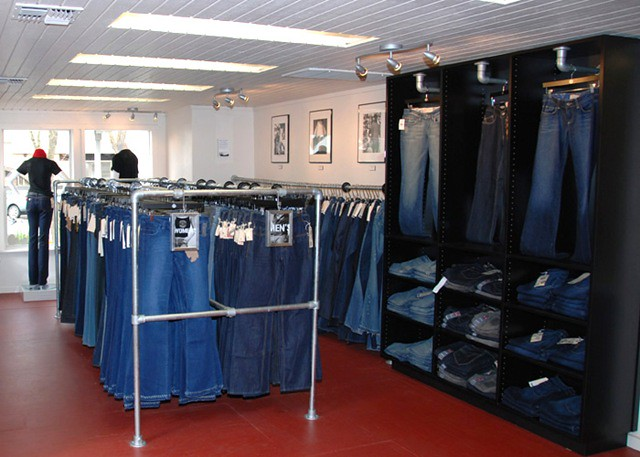 Custom Clothing Racks Made with Kee Klamp Fittings