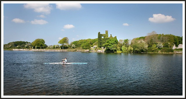 Rowing past Menlo Castle