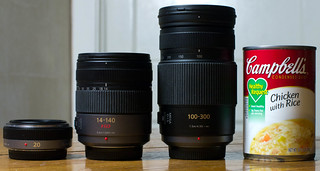 Panasonic Micro Four-Thirds Lenses for size comparison
