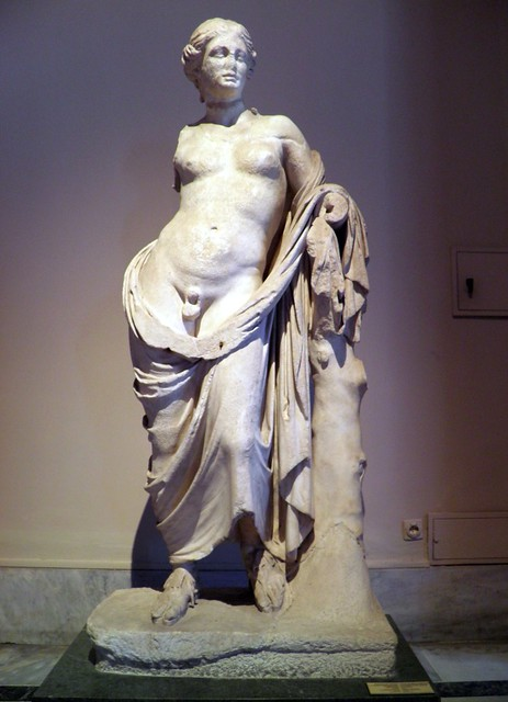Statue of Hermaphroditus, from Pergamon, 3rd century BC, Sculptures of the Hellenistic period, Istanbul Archaeology Museum