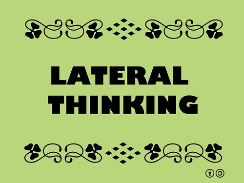 Buzzword Bingo: Lateral Thinking = Problem solving through an indirect and creative approach