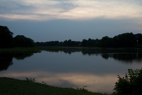 county sunset lake water de evening kent delaware garrison greghughes