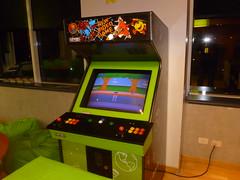 machine, arcade game, video game arcade cabinet, recreation room, games,