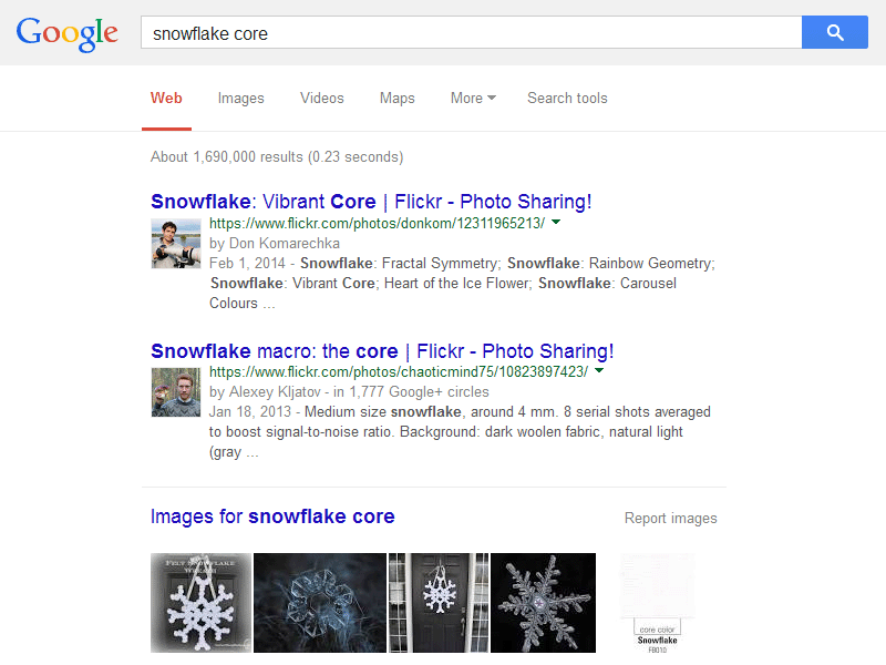 Google authorship with Flickr photo content example  3