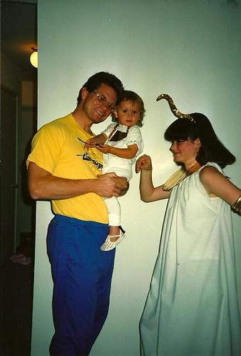 Jeff Megan and Rachel Halloween 1988