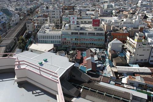 下北沢駅上空
