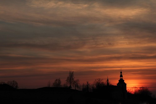 sunset church sonnenuntergang kirche olsztyn kościół zachódsłońca częstochowa