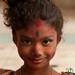 Young Girl All Colored Up for Holi Celebrations - Dhaka, Bangladesh