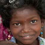 Curious Girl at Garo Village - Srimongal, Bangladesh