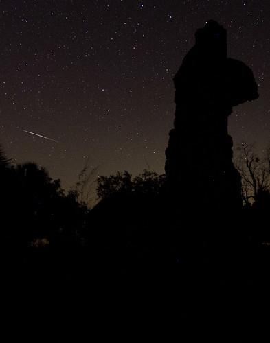 sky usa night ga georgia island long april meteor 2011 sapelo serenbe