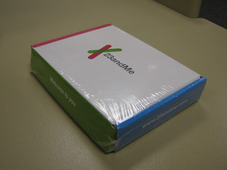 23andMe packaging