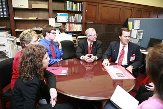 North Carolina delegation meets with Congresswoman Virginia Foxx.