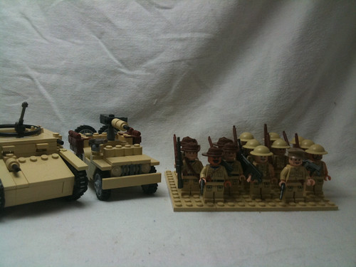 LCN Factions contest entry:Desert British and british commonwealth vehicles and infantry