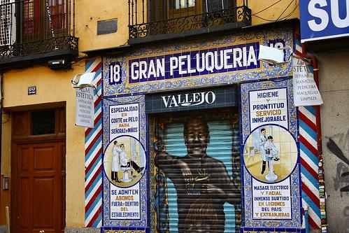 Peluquería Vallejo de la calle Santa Isabel. Madrid