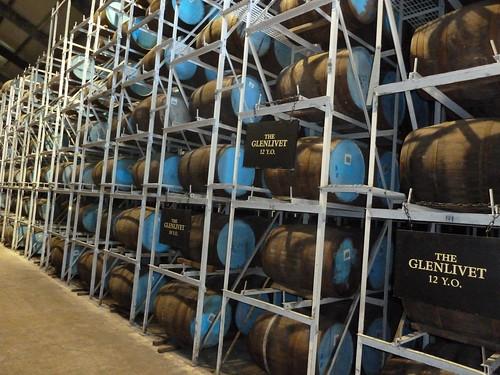 Maturing Whisky Casks, Glenlivet Distillery