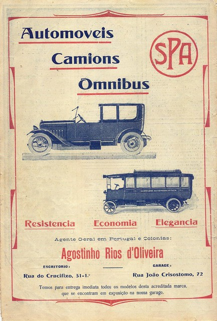 Ilustração Portugueza, 1920s - contra-capa